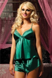 Seven 'Til Midnight Lingerie Flawless Satin Cami And Short Set