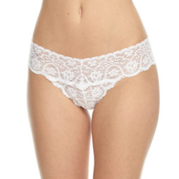 commando lace tanga white
