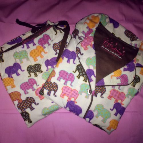p.j. salvage flannel sleepwear natural elephants