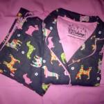 p.j. salvage flannel sleepwear grey holiday dogs