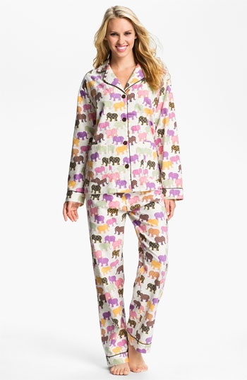 p.j. salvage flannel sleepwear white elephants