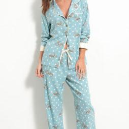 munki munki love bikes flannel pajamas