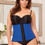 iCollection plus size blue waist trainer