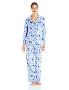Karen Neuburger Holiday Dog Print Pajama Set
