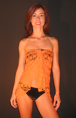 swimwear beach wrap orange