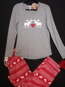 P.J. Salvage Sleepwear Moose Love Pajama Set