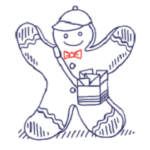 Priority Shipping Gingerbread Carrier