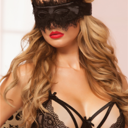 Satin Eye Mask 40135 Black