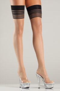 Be Wicked Multi Striped Thigh Highs