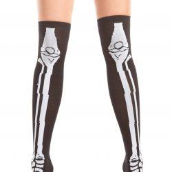 skeleton scare thigh highs