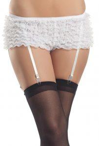 Be Wicked Ruffled Garter Shorts